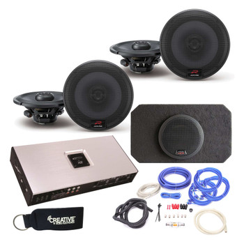 """Alpine Type-R R-S65 6.5"""" (2 Pair) Speakers with SBR-S8-4 8"""" Subwoofer, Arc Audio X2-1200.6 6-Channel Amp & wire kit"""