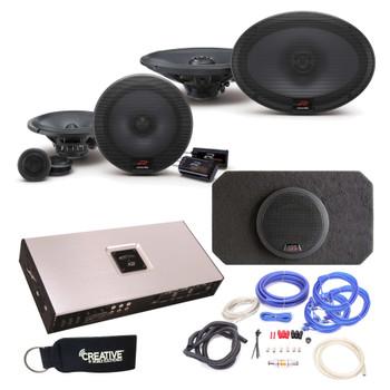 "Alpine Type-R R-S65C 6.5"" Components,  R-S69 6X9"" Speakers, SBR-S8-4 8"" Subwoofer, Arc Audio X2-1200.6 Amp & wire kit"
