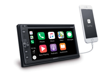 "Sony XAV-AX210SXM DVD 6.4"" CarPlay and Android Auto Compatible receiver with free SiriusXM Tuner"