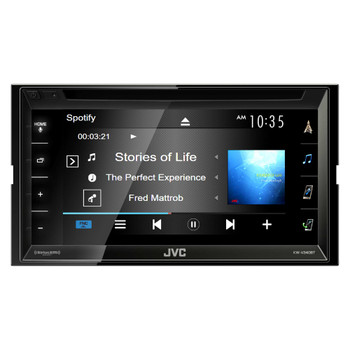 JVC Refurbished KW-V340BT 6.2-inch Bluetooth DVD/CD/USB WVGA Receiver with 6.8-inch Clear Resistive Touch Control