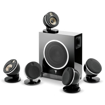 Focal Dome 5.1-Channel Speaker System With Sub Air (Black) With Two Pair of Focal Dome Speaker Stands