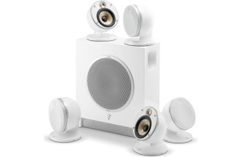 Focal Dome 5.1-Channel Speaker System With Sub Air (White) With Two Pair of Focal Dome Speaker Stands