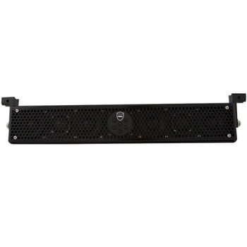 """Wet Sounds Refurbished Stealth 6 Ultra HD Amplified Soundbar with Remote + 2"""" Pipe Clamps & Sliders"""