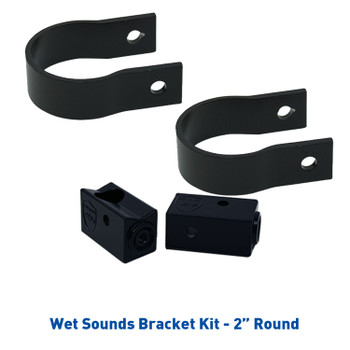 """Wet Sounds Refurbished Stealth 6 Ultra HD White Amplified Soundbar with Remote + 2"""" Pipe Clamps & Sliders"""