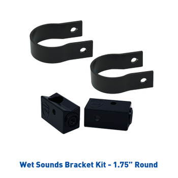 "Wet Sounds Refurbished Stealth 10 ULTRA HD  Amplified Soundbar with Remote + 1.75"" Pipe Clamps & Sliders"