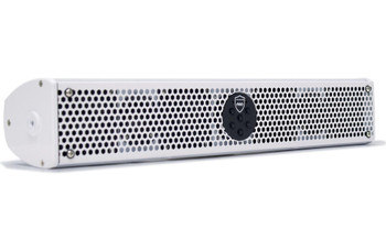 """Wet Sounds Refurbished Stealth 6 Ultra HD White Amplified Soundbar with Remote + 1.75"""" Pipe Clamps & Sliders"""
