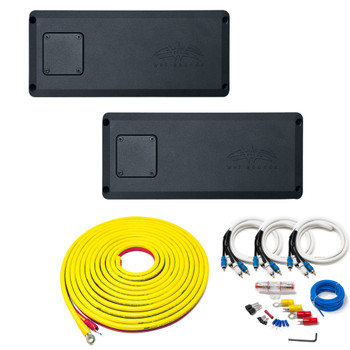 Wet Sounds - STX Micro-1 Subwoofer Amp, STX Micro-4 4-Channel Amp, And 7 Meter Marine Wiring Kit