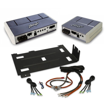 Stinger SPX700X4 & SPX350X2 Amplifiers With Wiring Kit And Mounting Plate For 2014+ Polaris RZR