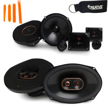 "Infinity Reference - REF-6530CX 6.5"" 2-Way Component System, And REF-9633IX 6x9"" 3-Way Car Audio Speakers Package"