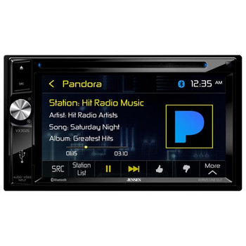 Jensen VX3026 2 DIN A/V Bluetooth Receiver with JS265 6.5 Coaxial Speakers