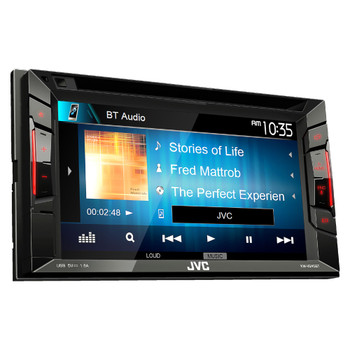 JVC Refurbished KW-V240BT BT/DVD/CD/USB Receiver with 6.2-inch Clear Resistive WVGA Touch Panel