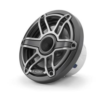 JL Audio 6.5-Inch M6 Marine Coaxial Speaker System, Gunmetal & Titanium, Sport Grille - SKU: M6-650X-S-GmTi