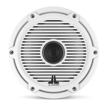 JL Audio 7.7-Inch M6 Marine Coaxial Speaker System, Gloss White, Classic Grille - SKU: M6-770X-C-GwGw