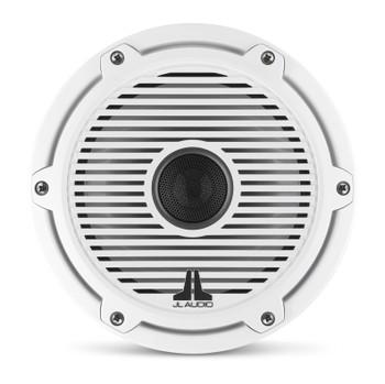 JL Audio 7.7-Inch M6 Marine Coaxial Speaker System, Gloss White, Classic Grille - SKU: M6-770X-C-GwGw