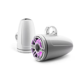 JL Audio 8.8-Inch M6 ETXv3 Tower Speaker System, RGB LED, Gloss White, Sport Grille - M6-880ETXv3-Gw-S-GwGw-i