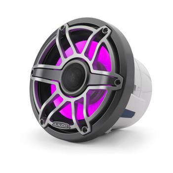 JL Audio 8.8-Inch M6 Marine Coaxial Speaker System, RGB LED, Gunmetal & Titanium, Sport Grille - SKU: M6-880X-S-GmTi-i