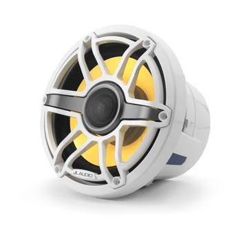 JL Audio 8.8-Inch M6 Marine Coaxial Speaker System, RGB LED, Gloss White, Sport Grille - SKU: M6-880X-S-GwGw-i