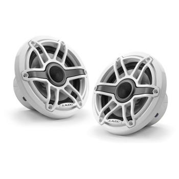 JL Audio 6.5-Inch M6 Marine Coaxial Speaker System, Gloss White, Sport Grille - SKU: M6-650X-S-GwGw