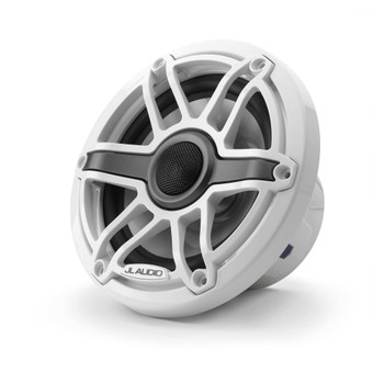 JL Audio 6.5-Inch M6 Marine Coaxial Speaker System, Gloss White, Sport Grille - SKU: M6-650X-S-GwGw