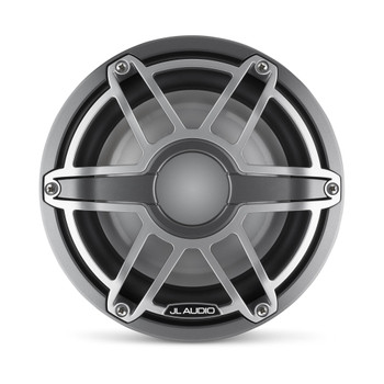 JL Audio 8-Inch M6 Marine Infinite Baffle Subwoofer, Gunmetal & Titanium, Sport Grille - SKU: M6-8IB-S-GmTi-4
