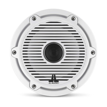 JL Audio 6.5-Inch M6 Marine Coaxial Speaker System, Gloss White, Classic Grille - SKU: M6-650X-C-GwGw