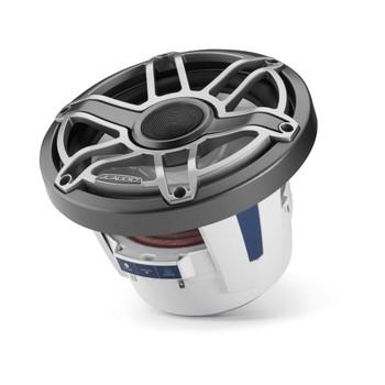 JL Audio 8.8-Inch M6 Marine Coaxial Speaker System, Gunmetal & Titanium, Sport Grille - SKU: M6-880X-S-GmTi