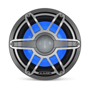 JL Audio 10-Inch M6 Marine Infinite Baffle Subwoofer, RGB LED, Gunmetal & Titanium, Sport Grille - M6-10IB-S-GmTi-i-4