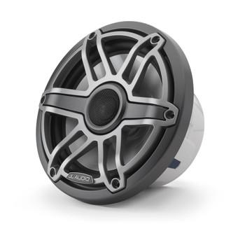 JL Audio 7.7-Inch M6 Marine Coaxial Speaker System, Gunmetal & Titanium, Sport Grille - SKU: M6-770X-S-GmTi