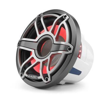 JL Audio 10-Inch M6 Marine Subwoofer, RGB LED, Gunmetal & Titanium, Sport Grille - SKU: M6-10W-S-GmTi-i-4