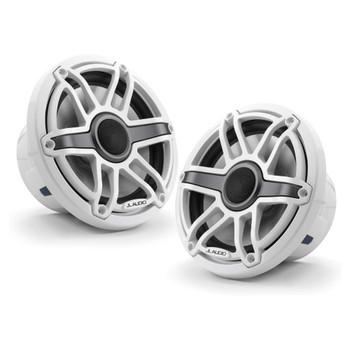 JL Audio 7.7-Inch M6 Marine Coaxial Speaker System, Gloss White, Sport Grille - SKU: M6-770X-S-GwGw