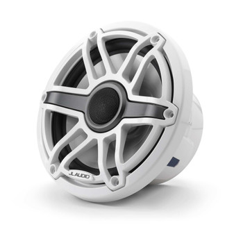 JL Audio 7.7-Inch M6 Marine Coaxial Speaker System, Gloss White, Sport Grille - SKU: M6-770X-S-GwGw