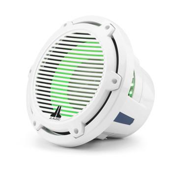 JL Audio 10-Inch M6 Marine Infinite Baffle Subwoofer, RGB LED, Gloss White, Classic Grille - SKU: M6-10IB-C-GwGw-i-4