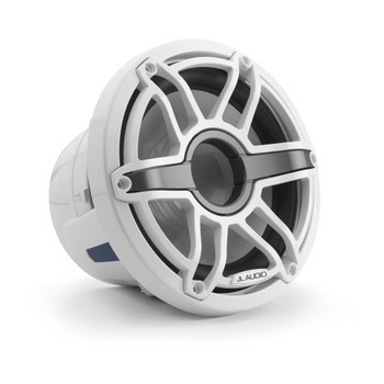 JL Audio 8-Inch M6 Marine Subwoofer, Gloss White, Sport Grille - SKU: M6-8W-S-GwGw-4