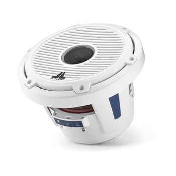 JL Audio 8.8-Inch M6 Marine Coaxial Speaker System, Gloss White, Classic Grille - SKU: M6-880X-C-GwGw