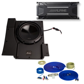 Alpine SBV-10-WRA 10-Inch Subwoofer for 2007-2018 Jeep Wrangler with KTA-30MW Amplifier, wire kit