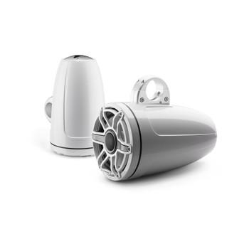 JL Audio 8.8-Inch M6 ETXv3 Tower Speaker System, Gloss White, Sport Grille - SKU: M6-880ETXv3-Gw-S-GwGw