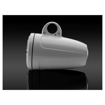JL Audio 8.8-Inch M6 ETXv3 Tower Speaker System, Gloss White, Classic Grille - SKU: M6-880ETXv3-Gw-C-GwGw