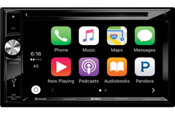 "Jensen VX7024 2 DIN 6.2"" Multimedia Receiver w/ CD/DVD Navigation and CarPlay Compatible"