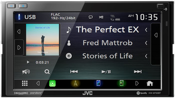 JVC KW-M750BT Compatible with CarPlay, Android Auto 2-DIN AV Receiver (No CD Drive)