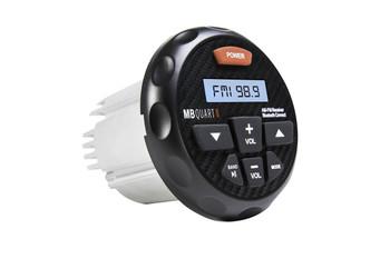 MB Quart GMR-3 180 watt powered Bluetooth AM/FM gauge mount radio with Carbon Fiber look