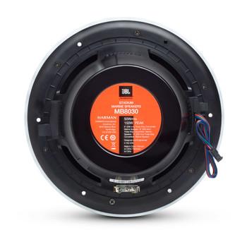 "JBL MB8030AM - Four Pairs Of Stadium Marine MB8030 Black 8"" Premium 3-Way RGB LED Convertible Speakers"