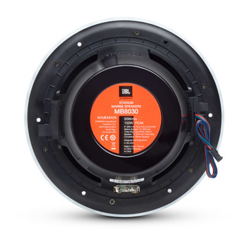 "JBL MB8030AM - Four Pairs Of Stadium Marine MB8030 Black 8"" Premium 3-Way RGB LED Convertible Speakers"