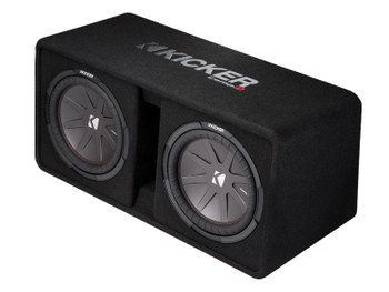 Kicker 43DCWR122 CompR12 Dual 12-inch (30cm) Subwoofers in Vented Enclosure, 2-Ohm, 1000W - Used Very Good
