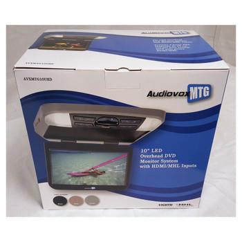 "Audiovox AVXMTG10UHD 10.1"" LED 16:9 Monitor w/Built-In DVD Player - Open Box"