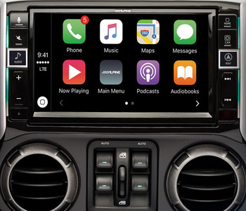 i109-WRA Alpine 9-Inch Restyle Dash System Compatible with CarPlay for 11-18 JK Jeep Wranglers - used Very Good