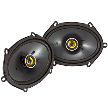 Kicker 46CSC684 CS-Series CSC68 6x8-Inch (160x200mm) Coaxial Speakers, 4-Ohm (Pair)
