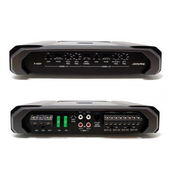 Alpine R-A60F R-Series Four Channel Amplifier - 150 Watts x 4 at 2-Ohms, 100 Watts x 4 at 4-Ohms