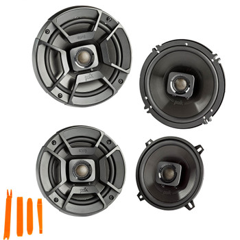 """Polk Audio - A Pair Of DB652 6.5"""" Coaxial and A Pair Of DB522 5.25"""" Speakers  - Bundle Includes 2 Pair"""