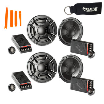 """Polk Audio - Two Pairs Of DB6502 6.5"""" Component Speaker - Marine and Powersports Certification"""