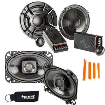 """Polk Audio - A Pair Of DB6502 6.5"""" Components and A Pair Of DB462 4x6"""" Coax Speakers  - Bundle Includes 2 Pair"""